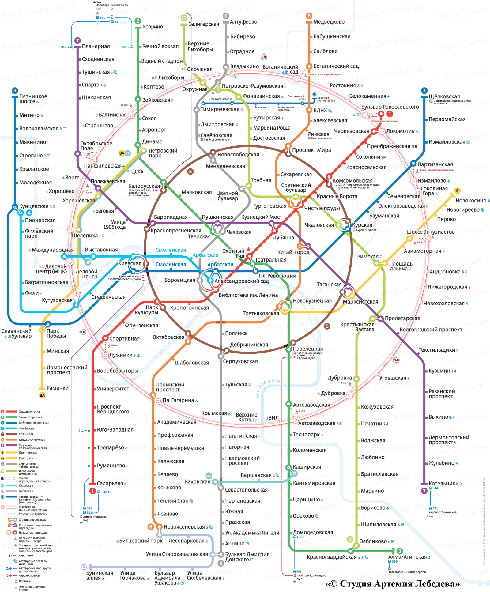 Схема московского центрального метро фото 567