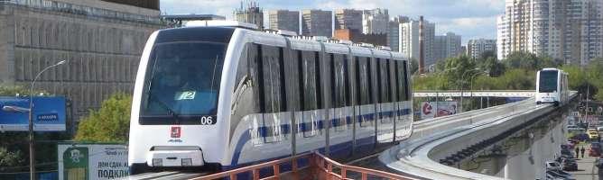Поезд монорельса метро