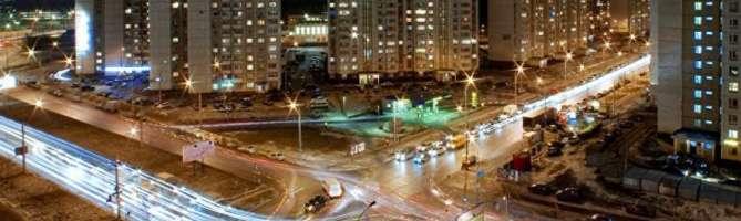 Вечерний Митино в Москве